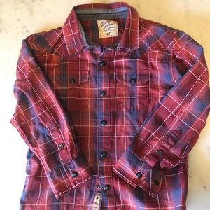 Lucky kids cowboy button down shirt 4T boys